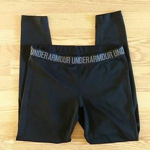 Under Armour black full length leggings large